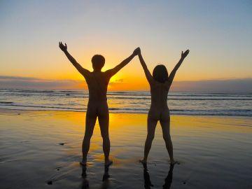 beautful sunset taidong beach